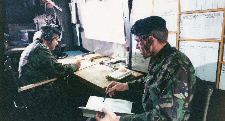 A Light Infantry Echelon Command Post in the Field