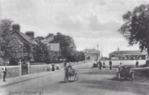 A distant view of the barracks and Bodmin General Station in the 1900's