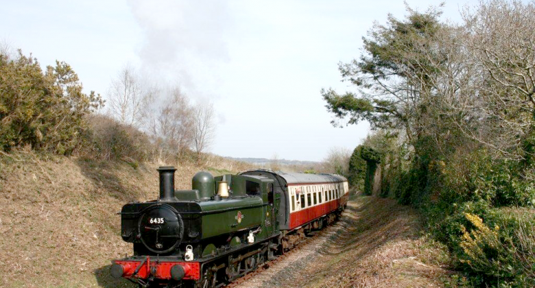 A steam engine from Bodmin & Wenford Railway.