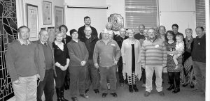 A group of staff and volunteers at the museum