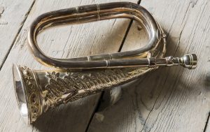 Commanding officers bugle at Cornwall's Regimental Museum