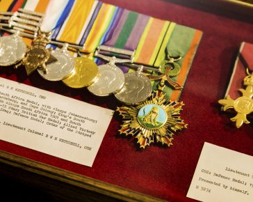 Medals awarded to Colonel R W Wetherell CMG