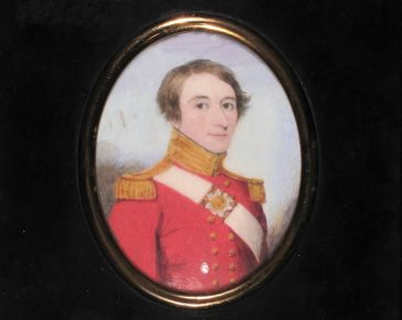 A painting of an officer from the 46th regiment