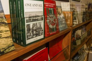 Display of books on sale in shop