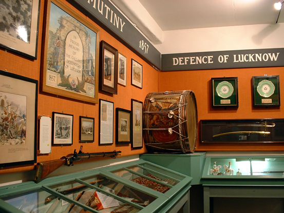 A view of the Defence of Lucknow area in the museum.