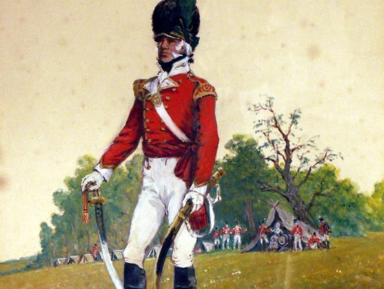 A painting of an officer of the 32nd regiment