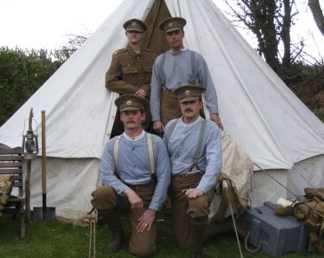 Historical Re-enactment of a WW1 Camp by No1 comapny