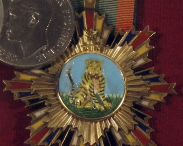 Orders of striped tiger Medal