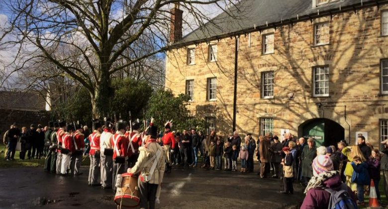 The 32nd Cornwall Regiment of Foot entertain visitors at The Keep, Cornwall's Regimental Museum