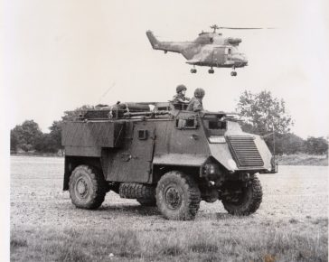 Military Vehicles a Saxon and a Puma