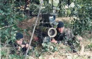 A Light Infantry Team in a fire position
