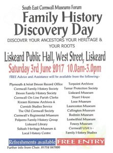 Liskeard Grand Family History Day