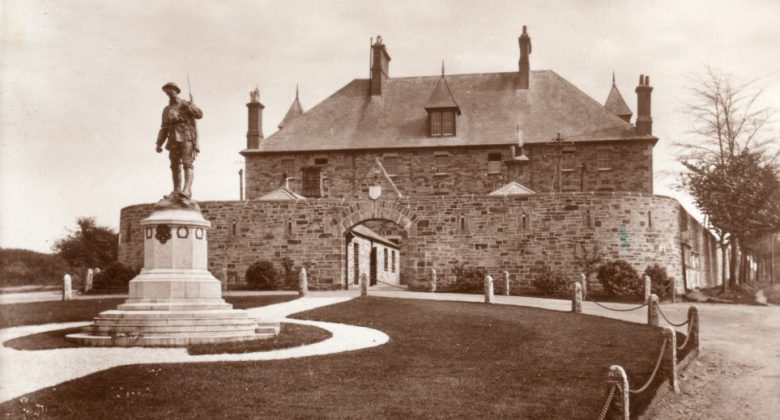 The History of the Barracks - an historic image of the exterior of The Keep