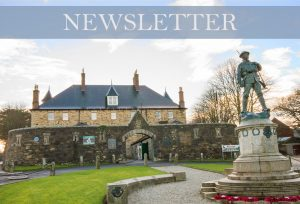 The banner for the Museum News E-newsletter shows an image of hte museum and war memorial, with the word 'Newsletter' across the top