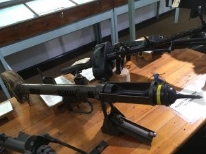 A PIAT (Projector Infantry Anti-Tank) on display in the museum's armoury