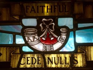 Cede Nullis - the Light Infantry stained glass window at Cornwall's Regimental Museum