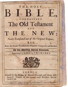 The Washington Bible: Object of the Month for May 2017