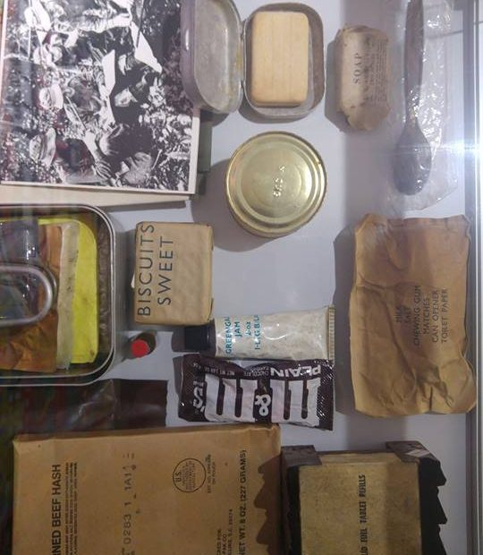 Light Infantry Jungle Survival Equipment: Rations at Cornwall's Regimental Museum