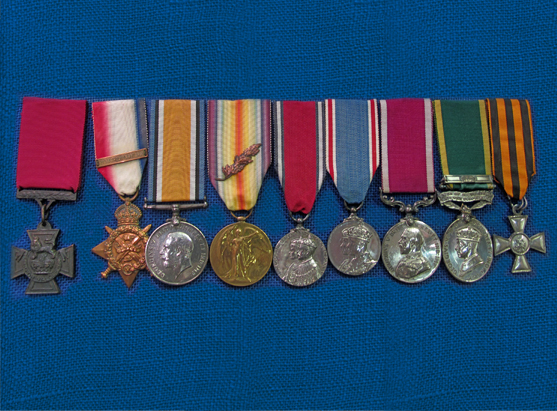Medals at Cornwall's Regimental Museum
