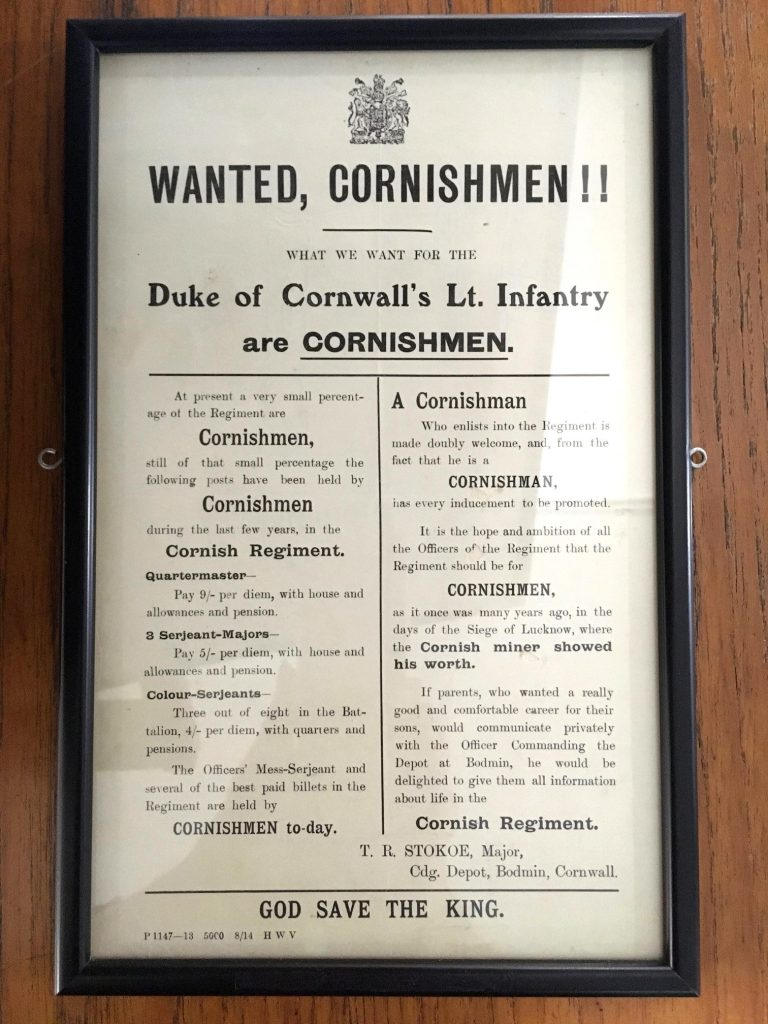 WW1 Recruiting leaflet - Cornwall's Regimental Museum