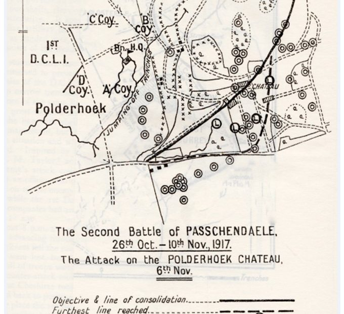 1 DCLI Second Battle of Passchendaele - Polderhoek Chateau 1917 Cornwalls Regimental Museum