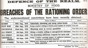 Breaches of the Rationing Order poster