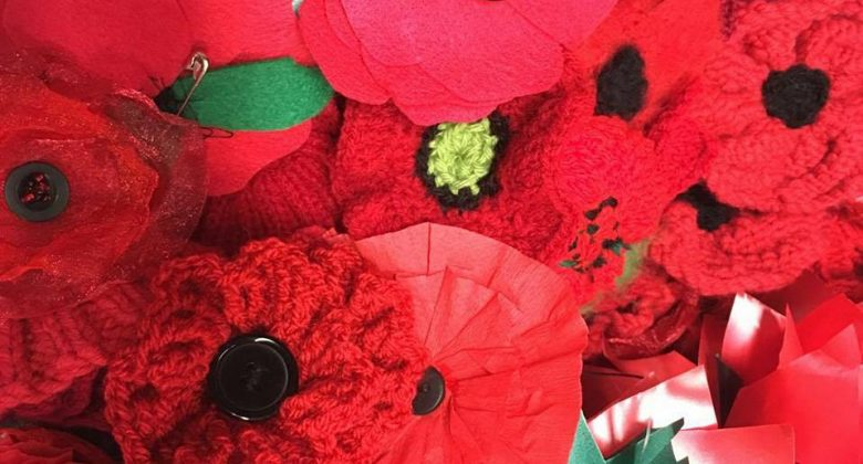 Handmade Poppies at Cornwall's Regimental Museum Fun Palaces Event 2017