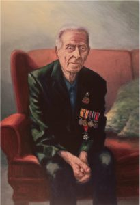 Harry Patch - Portrait at Cornwall's Regimental Museum