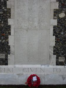 Harry Patch's Wreath at Tyne Cot Memorial in 2017