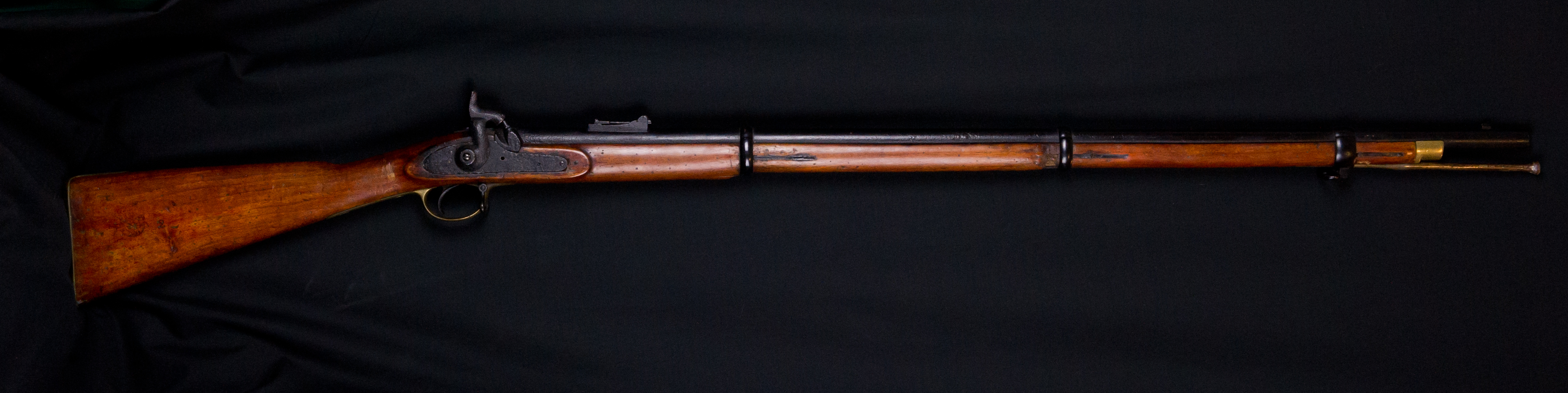 An example of the Pattern 1853 Enfield rifled musket which is on display at Cornwall's Regimental Museum
