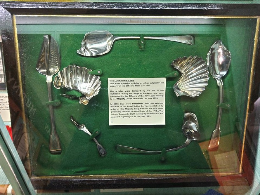 The Lucknow Silver on display at Cornwall's Regimental Museum