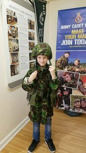A young visitor at Cornwall's Regimental Museum
