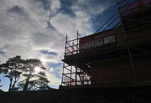 The building of homes on the former Parade Ground for Bodmin Keep.