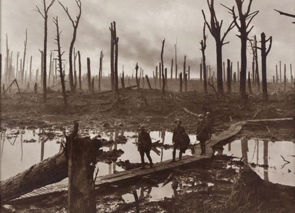 Bright but Cold - Armistice day 1918, The Trenches, Ypres