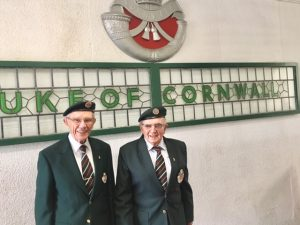 Cornwalls Regimental Museum, Bodmin Keep. Barry Cornish & Trevor Webb, 1st Battalion DCLI, National Service 1954 - 1956.