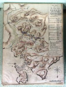 Sketch-Map-of-Corunna, Battle of Corunna, Napoleonic War, Sir John Moore, Cornwall's Regimental Museum, Bodmin Keep