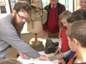 WW2 objects, Boots, Historic object handling