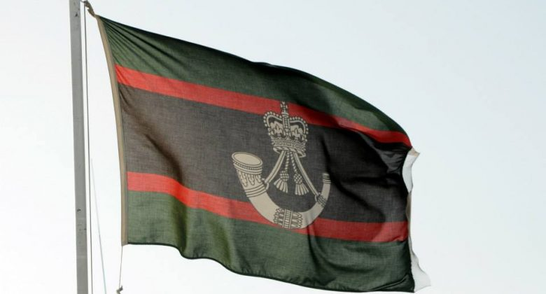 The Rifles Flag, Bodmin Keep, Formation of the Light Infantry & The Rifles, Regiment, army, soldier
