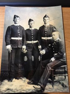 Photograph of Four of the Keveth Sons, all who joined the DCLI