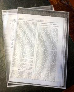 Newspaper articles relating to Mrs Keveth and her 7 serving sons, DCLI, Queen Victoria, Bodmin Keep, Archives
