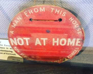 Not At Home sign, WW1, Propaganda