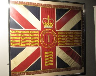 Queen's Colour of 1st Battalion The Light Infantry