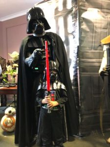 Darth Vader at Star Wars day at Bodmin Keep