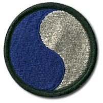 Divisional shoulder patch of the American 29th Infantry Division
