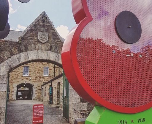 Poppy of Honour at Bodmin Keep, WW1 WW2, On the weekend we remember D Day, 75 Years