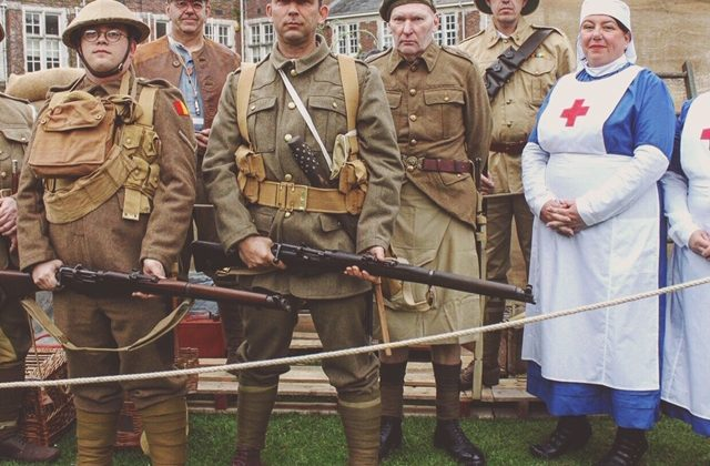 Homefront to Battlefront Reenactors at Bodmin Keep, October half Term