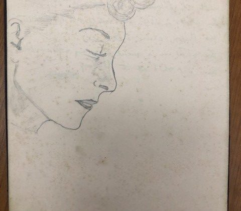 Nurse Olive Barnicoat_drawing, Bodmin EMS, WW2