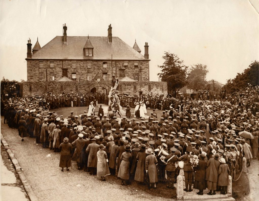 Monument_unveiling at Bodmin Keep
