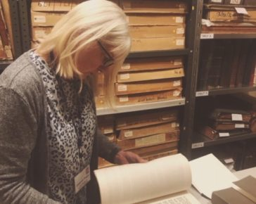 Deb Vosper, Researcher at Bodmin Keep, Pictured in the Archive